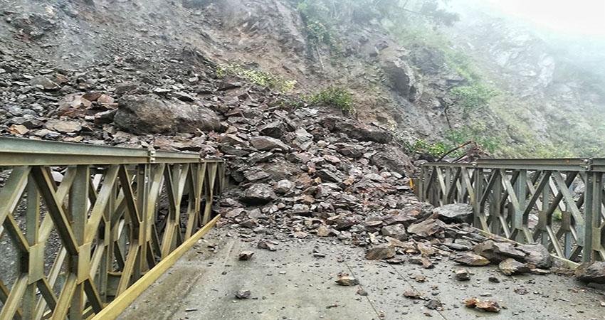 Santa Teresa: Lluvias provocan derrumbe en sector Quellomayo